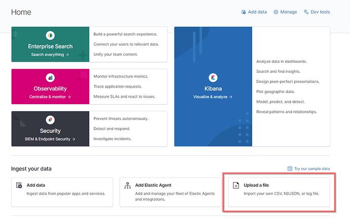 Importeer NDJSON met API-calls in Elasticsearch