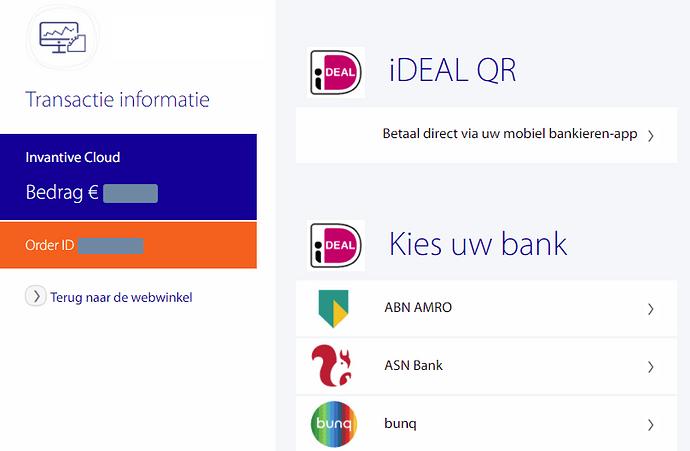 Bank link Invantive Cloud