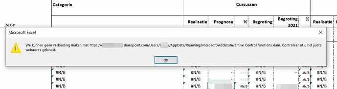 We kunnen geen verbinding maken xlam op SharePoint