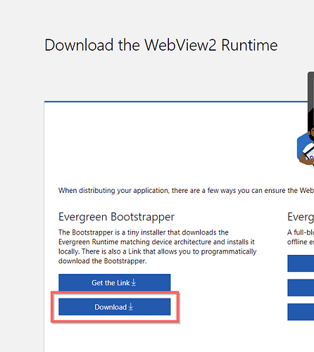 Download WebView2 Runtime