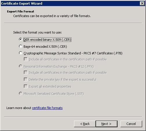der-encoded-binary-certificate