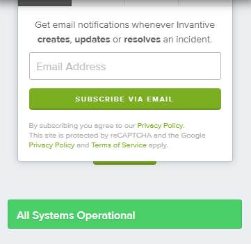 Subscribe to Invantive status events