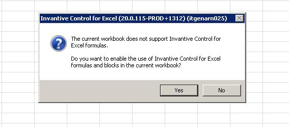 Toevoegen repository aan Excelbestand