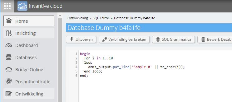 dbms_output sample
