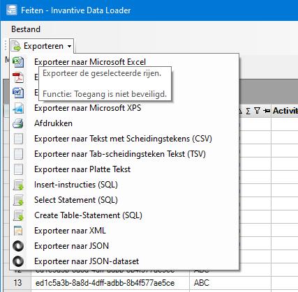 Exporteer uren naar Excel