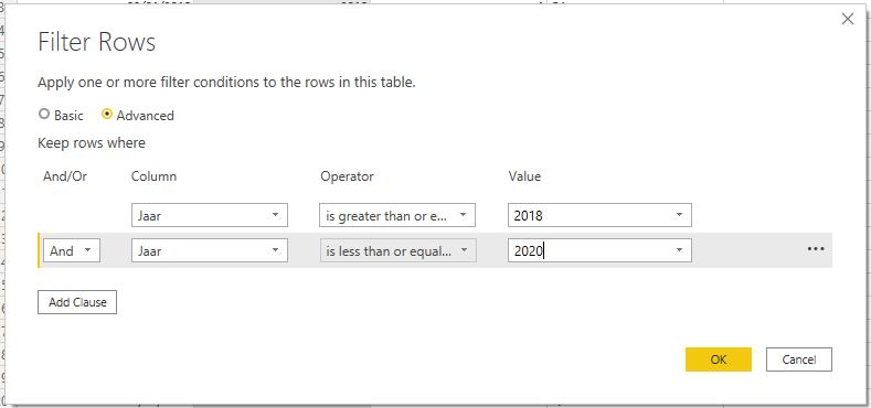 Simuleer een IN-operator in Power BI voor getallen
