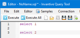 Execute All knop in Query Tool