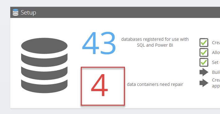 Te repareren databases