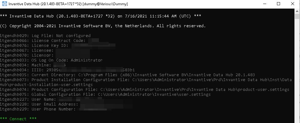 Voorbeeld versie Data Hub