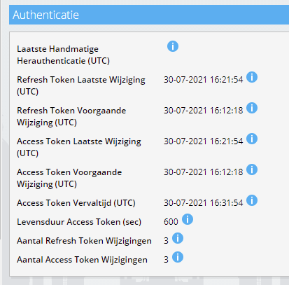 OAuth access en refresh Exact Online token