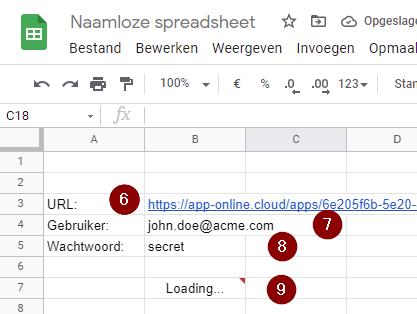 Laad Exact Online gegevens in Google Sheets