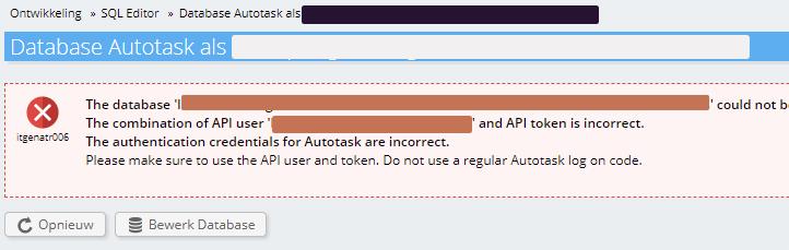 Foutmelding Autotask
