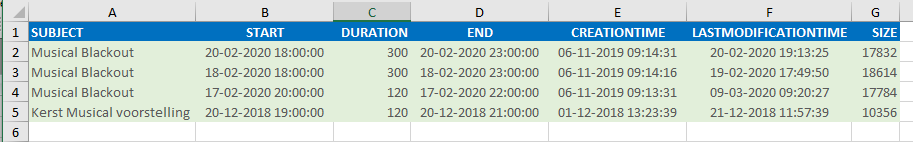 Export Outlook query to Excel