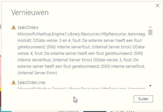 Power BI OData interne serverfout