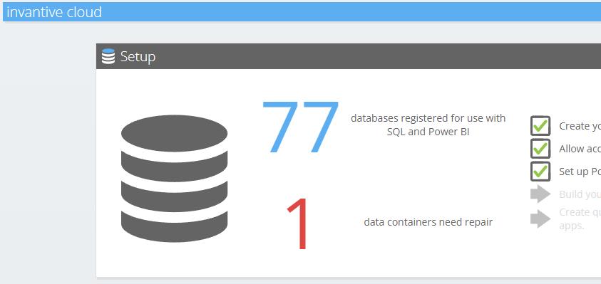 Data containers needing repair