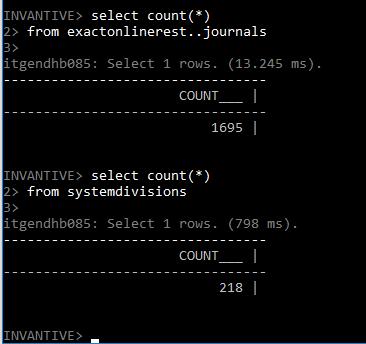 Run query on Exact Online