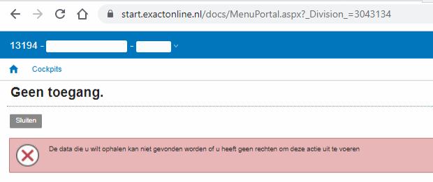 Direct kiezen Exact Online administratie