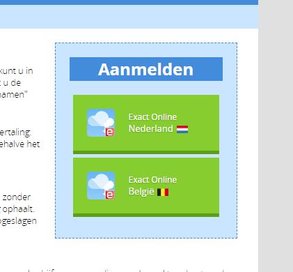 Reports Exact Online België