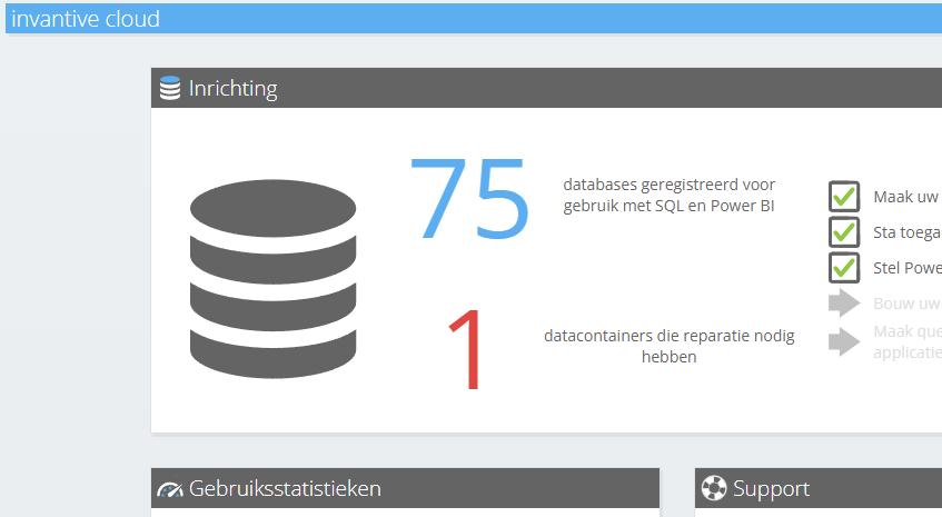 Te repareren datacontainers