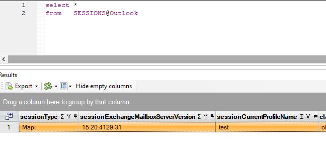 SQL Outlook session