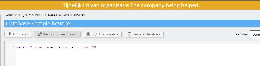 Toegang tot database via delegatie